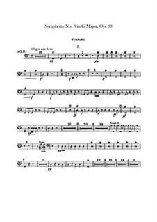 Complete Symphony: Timpani part by Antonín Dvořák