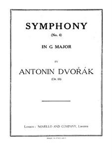 Complete Symphony: Violin I part by Antonín Dvořák
