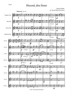 Discord, dire sister: For saxophone quartet by Samuel Webbe