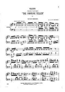The Fortune Teller: Waltzes, for piano by Victor Herbert