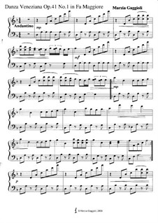 Danza Venezianas, Op.41: Danza Veneziana No.1 in Fa Maggiore by Marzia Gaggioli