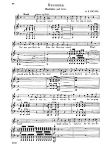 Susanna, HWV 66: Ye verdant hills, ye balmy vales. Recitative and aria for tenor by Georg Friedrich Händel