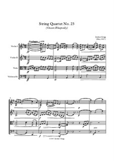 String Quartet No.23 (Ocean Rhapsody): String Quartet No.23 (Ocean Rhapsody) by Jordan Grigg
