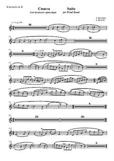 Suite No.1: Clarinet part by Alexander Bystrov