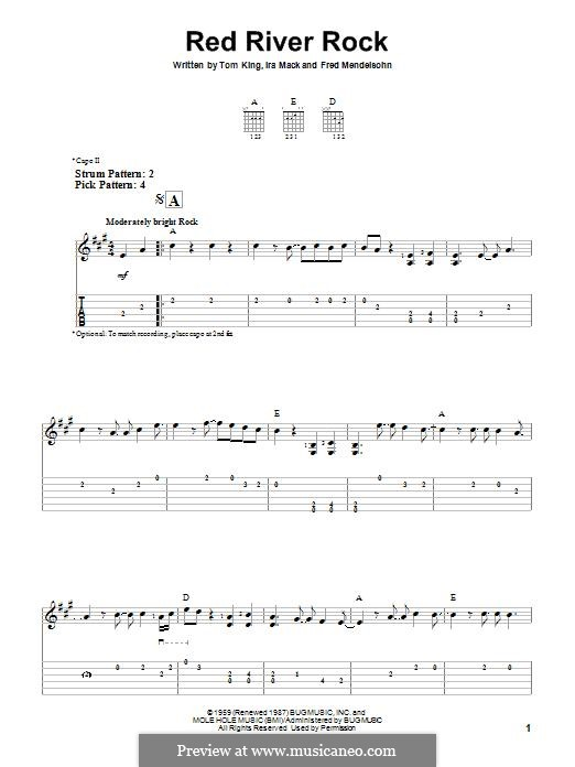 Red River Rock (Johnny & The Hurricanes): For guitar with tab by Ira Mack, Tom King, Fred Mendelsohn