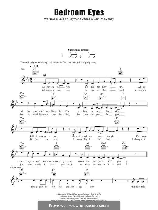 Bedroom Eyes: Melody line by Raymond Jones, Sami McKinney