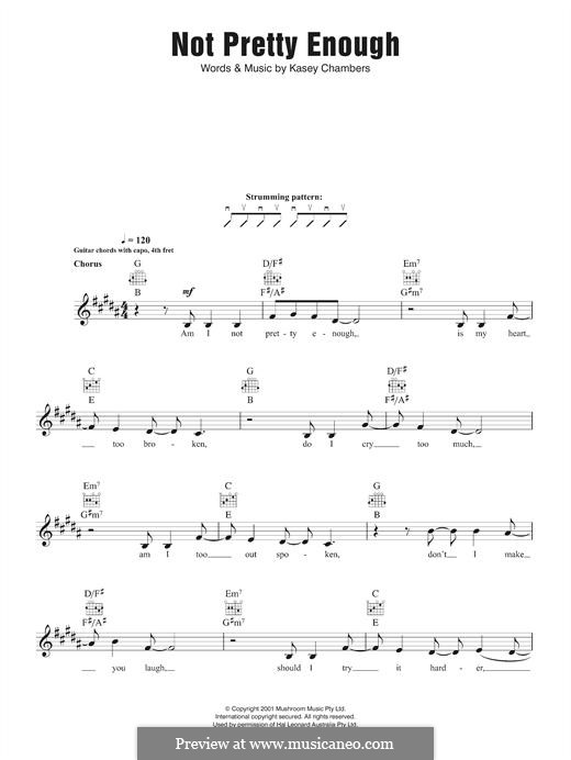 Not Pretty Enough By K Chambers Sheet Music On Musicaneo