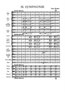 Symphony No.9 in D Minor, WAB 109: Full score by Anton Bruckner