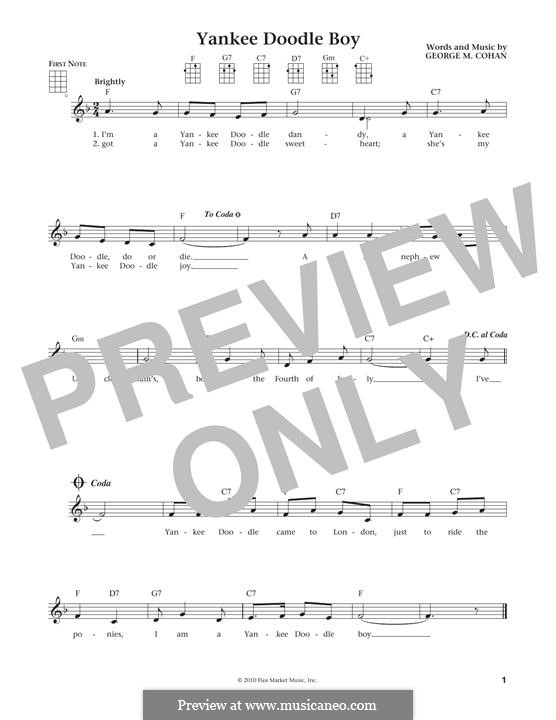 Yankee Doodle Boy: For ukulele by George Michael Cohan