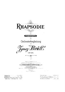 Rhapsody, Op.65: For two pianos four hands by Ignaz Brüll