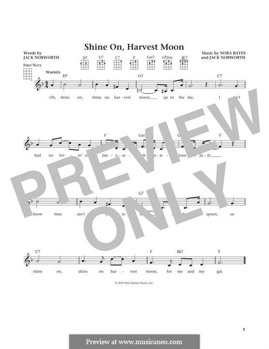 Shine On, Harvest Moon: For ukulele by Nora Bayes