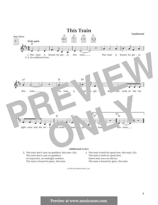 This Train: For ukulele by folklore