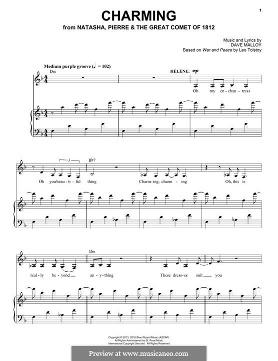 Charming (Josh Groban): For voice and piano by David Malloy