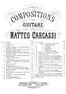 Twenty-Five Etudes for Guitar, Op.60: Complete set by Matteo Carcassi