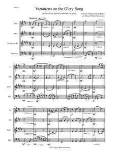 Variations on the Glory Song: For wind quartet by Charles Hutchinson Gabriel
