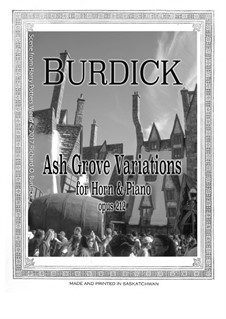 Ash Grove Variations, Op.212: Ash Grove Variations by Richard Burdick