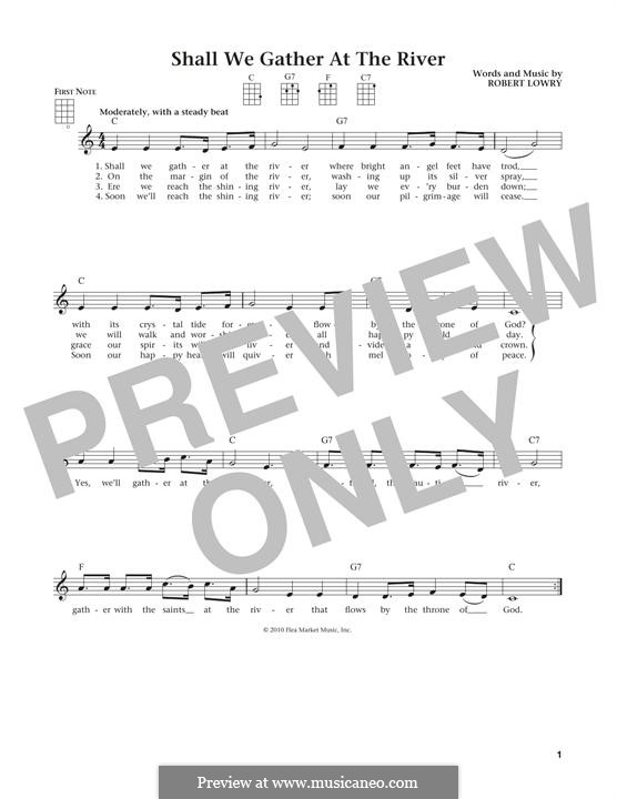 Shall We Gather at the River: For ukulele by Robert Lowry