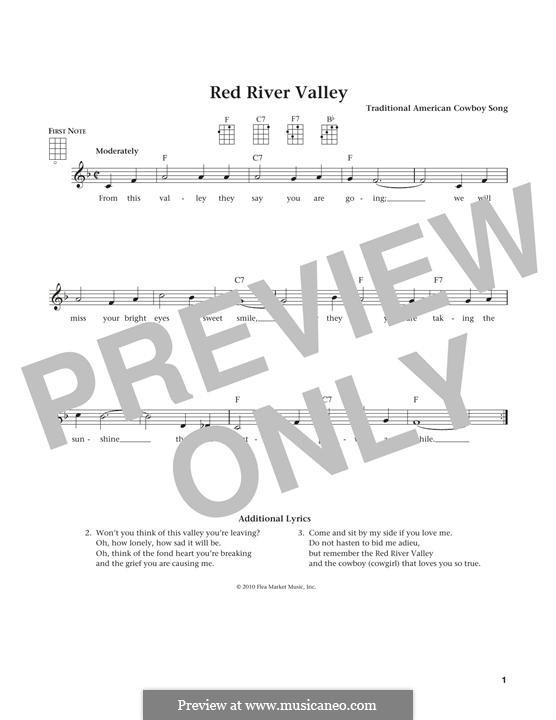 The Red River Valley: For ukulele by folklore