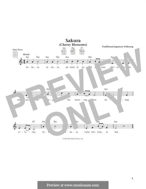 Sakura (Cherry Blossom): For ukulele by folklore