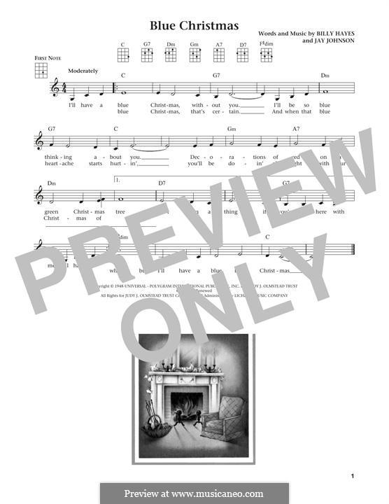 Blue Christmas: For ukulele by Billy Hayes, Jay Johnson