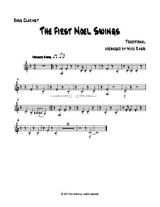 The First Noel Swings: For clarinet quartet – bass clarinet part by folklore