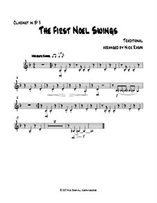 The First Noel Swings: For clarinet quartet – Bb clarinet 3 part by folklore