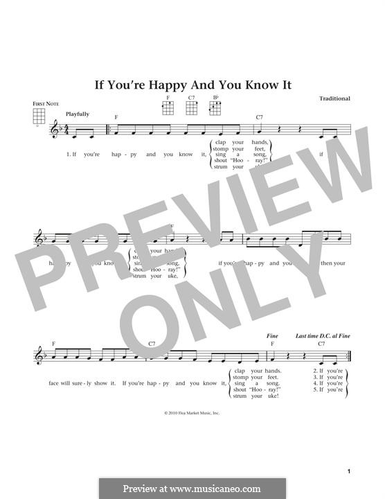 If You're Happy and You Know It: For ukulele by Laura Smith