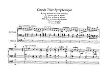 Six Pieces for Grand Organ: Grande pièce symphonique in F Sharp Minor, Op.17 by César Franck