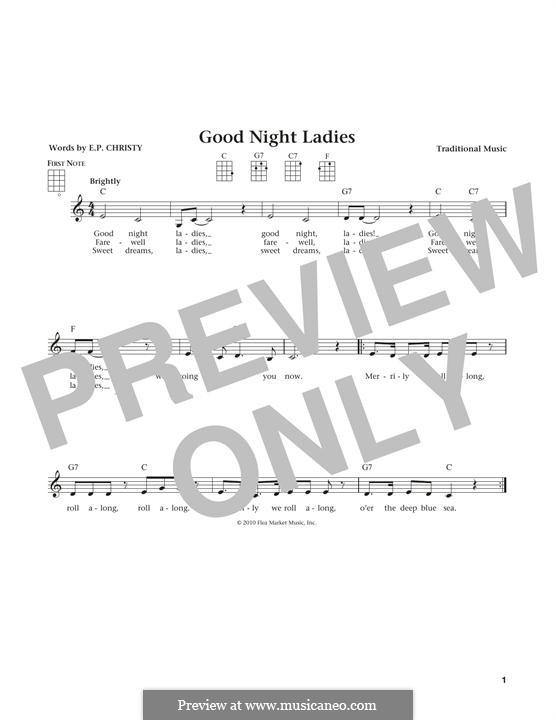 Good Night Ladies: For ukulele by folklore