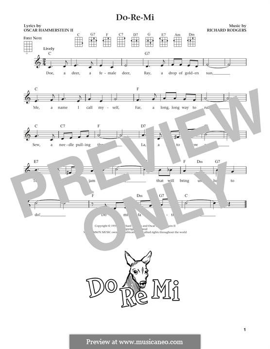 Do-Re-Mi (from The Sound of Music): For ukulele by Richard Rodgers