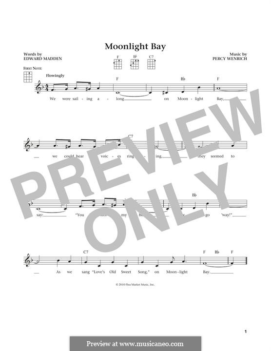Moonlight Bay: For ukulele by Percy Wenrich