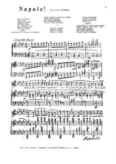 Napule: For voice and piano by Ernesto Tagliaferri