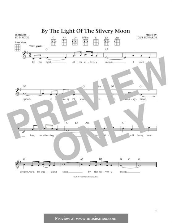 By the Light of the Silvery Moon: For ukulele by Gus Edwards