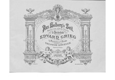 Fra Holbergs tid (Holberg Suite), Op.40: For piano four hands by Edvard Grieg