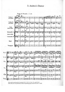 Suite No.1. Anitra's Dance, Op.46 No.3: Full score by Edvard Grieg
