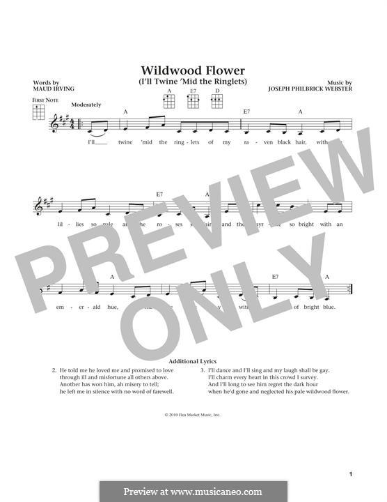 Wildwood Flower: For ukulele by folklore