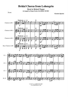 Bridal Chorus: For clarinet quartet by Richard Wagner