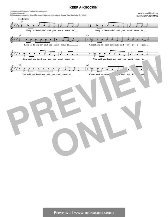 Keep A-Knockin': Melody line by Little Richard