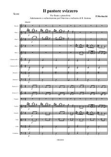 Il pastore svizzero: Orchestration and adaptation for piccolo and orchestra by Pietro Morlacchi