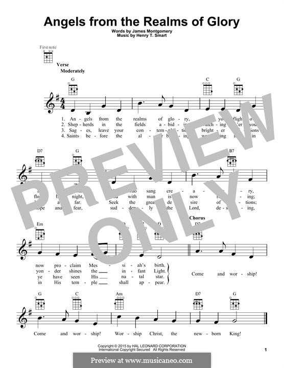 Angels, from the Realms of Glory: For ukulele by Henry Smart