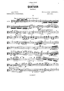 Piano Quartet in B Minor: Viola part by Guillaume Lekeu