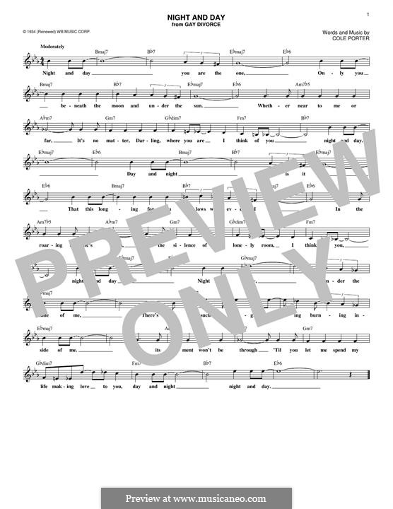 Night and Day (Frank Sinatra): Melody line by Cole Porter