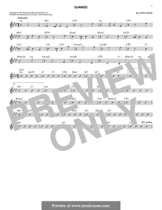 Django: Melody line by John Aaron Lewis