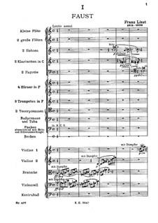 Faust Symphony, S.108: Full score by Franz Liszt