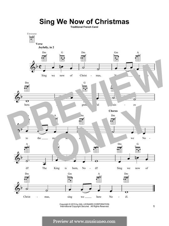 Sing We Now of Christmas (from Morning Star): For ukulele by folklore