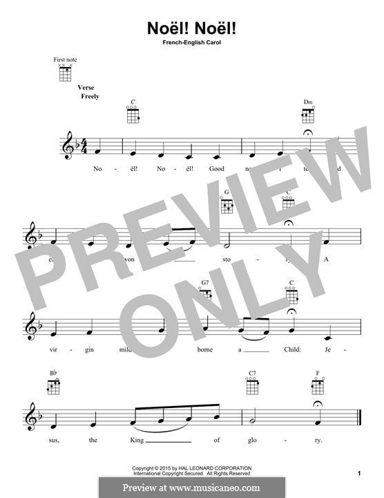 Noel! Noel!: For ukulele by folklore