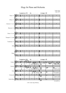Elegy for Piano and Orchestra: Elegy for Piano and Orchestra by Jordan Grigg
