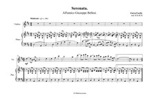 Serenade: For violin and piano by Enrico Toselli