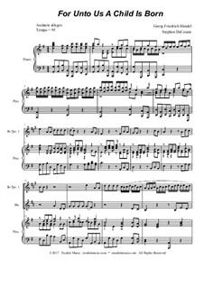 No.12 For Unto Us a Child is Born: For brass quartet by Georg Friedrich Händel