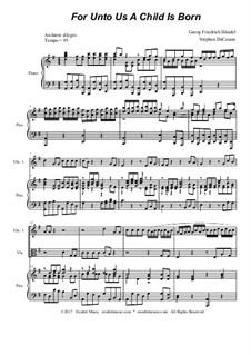 No.12 For Unto Us a Child is Born: For string quartet by Georg Friedrich Händel